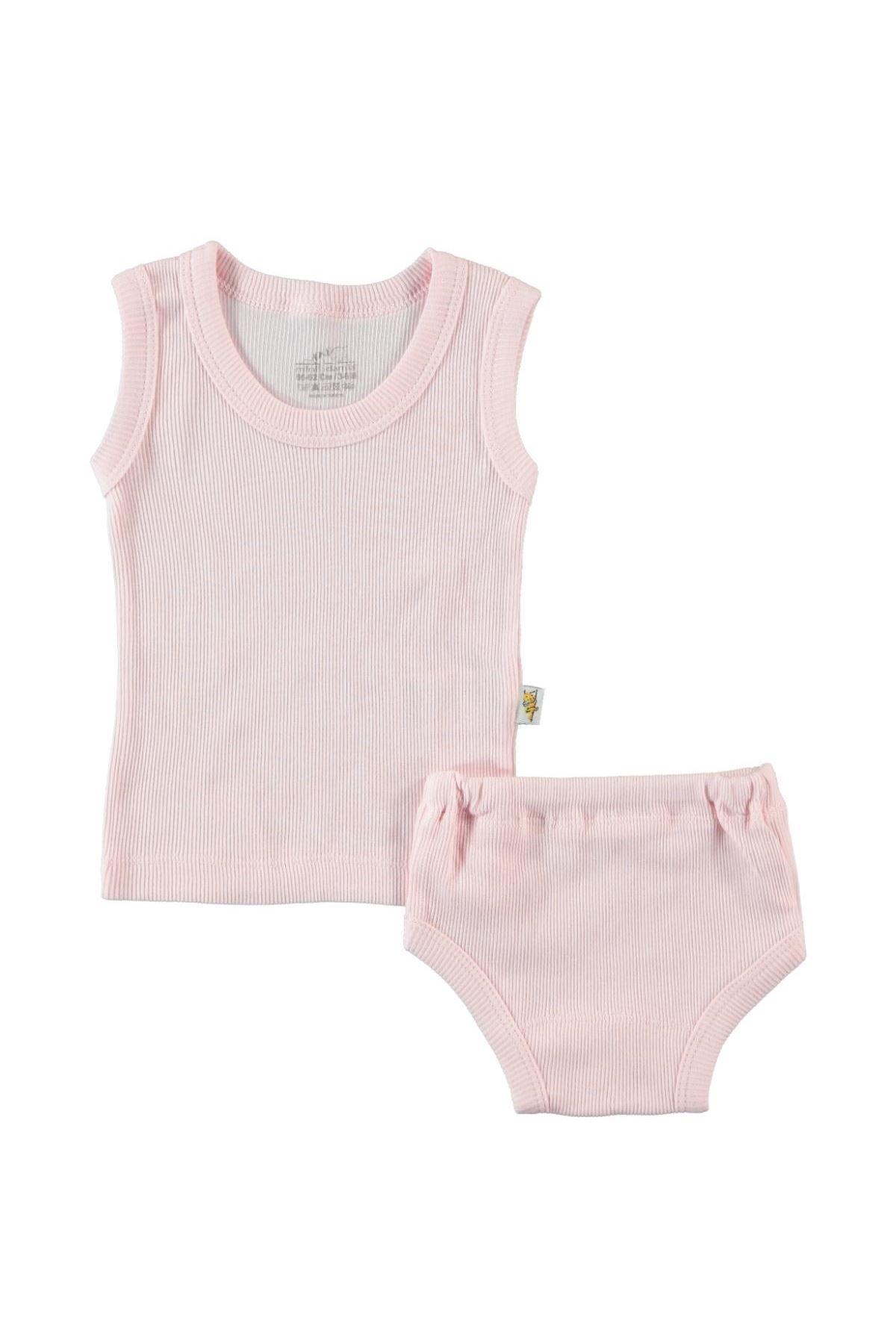 Albimini Minidamla Kaşkorse Bebe Askılı Çamaşır Takımı 42770 Pembe