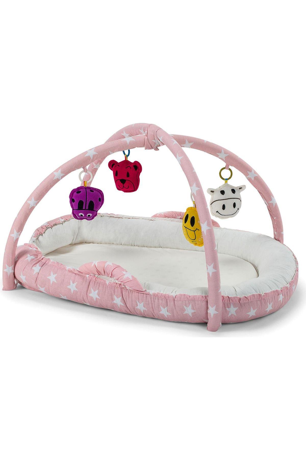 Moje Eğlenceli Uyku Yatağı Pembe Yıldız