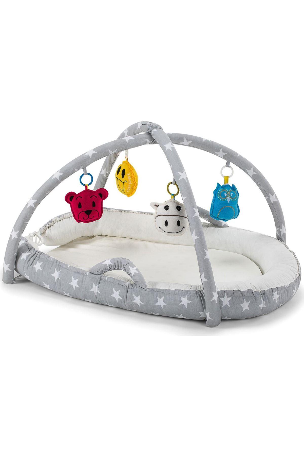 Moje Eğlenceli Uyku Yatağı Gri Yıldız
