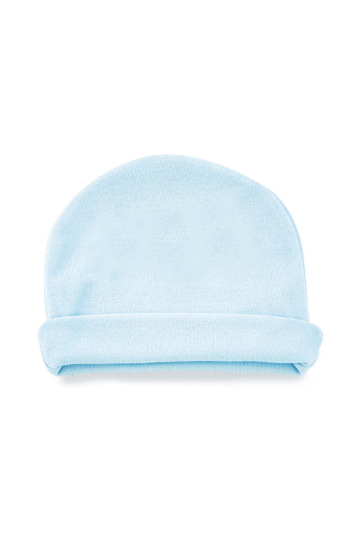 BabyJem Yenidoğan Bebe Şapka 397 Mavi
