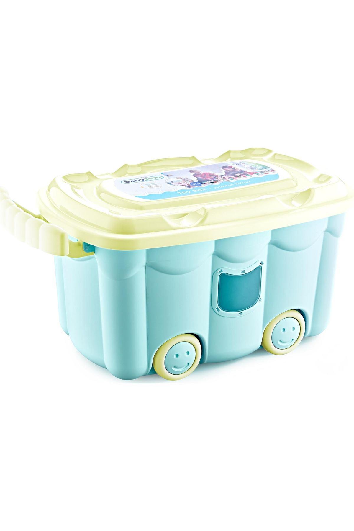 BabyJem Tekerlekli Oyuncak Kutusu 537 Mint Yeşili