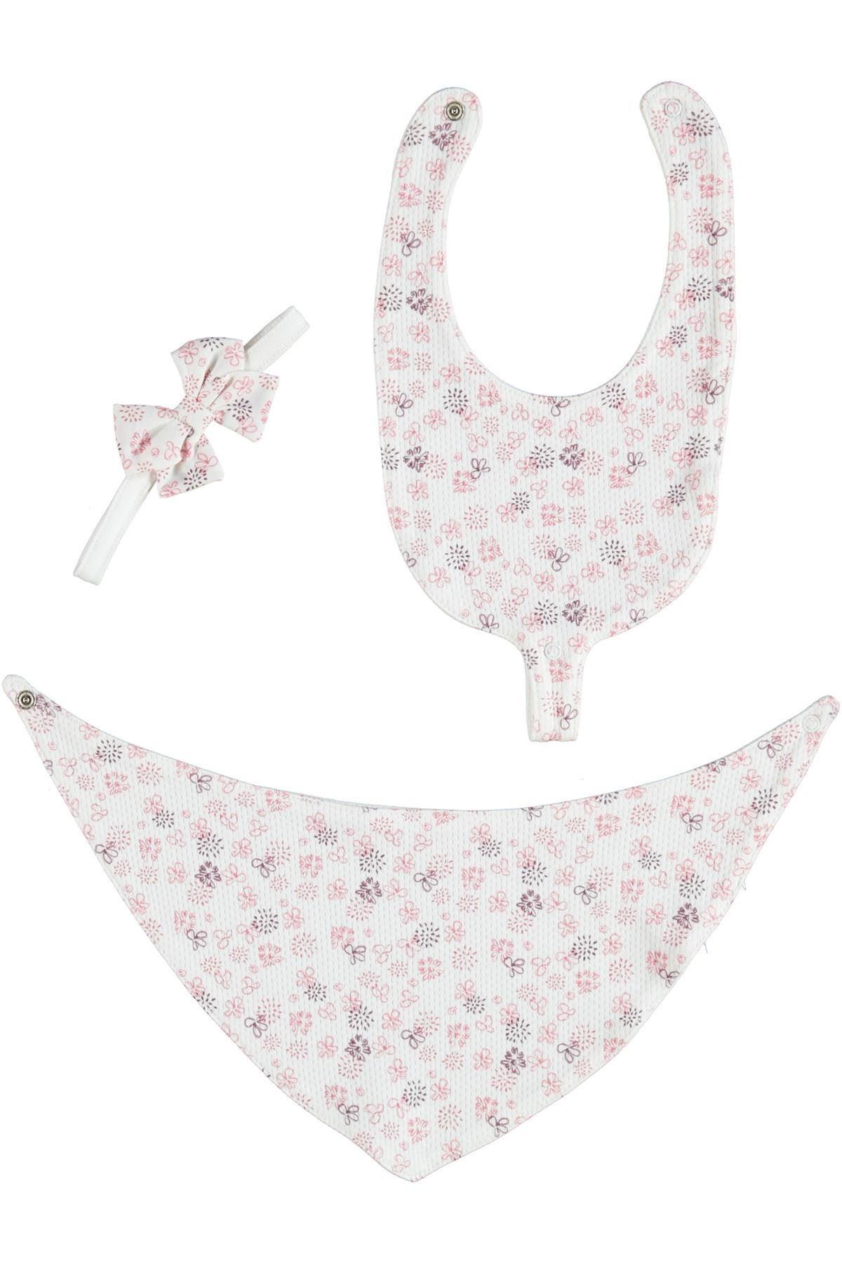 Bibaby Pink Clover 3 lü Fular Önlük 75101 Pembe