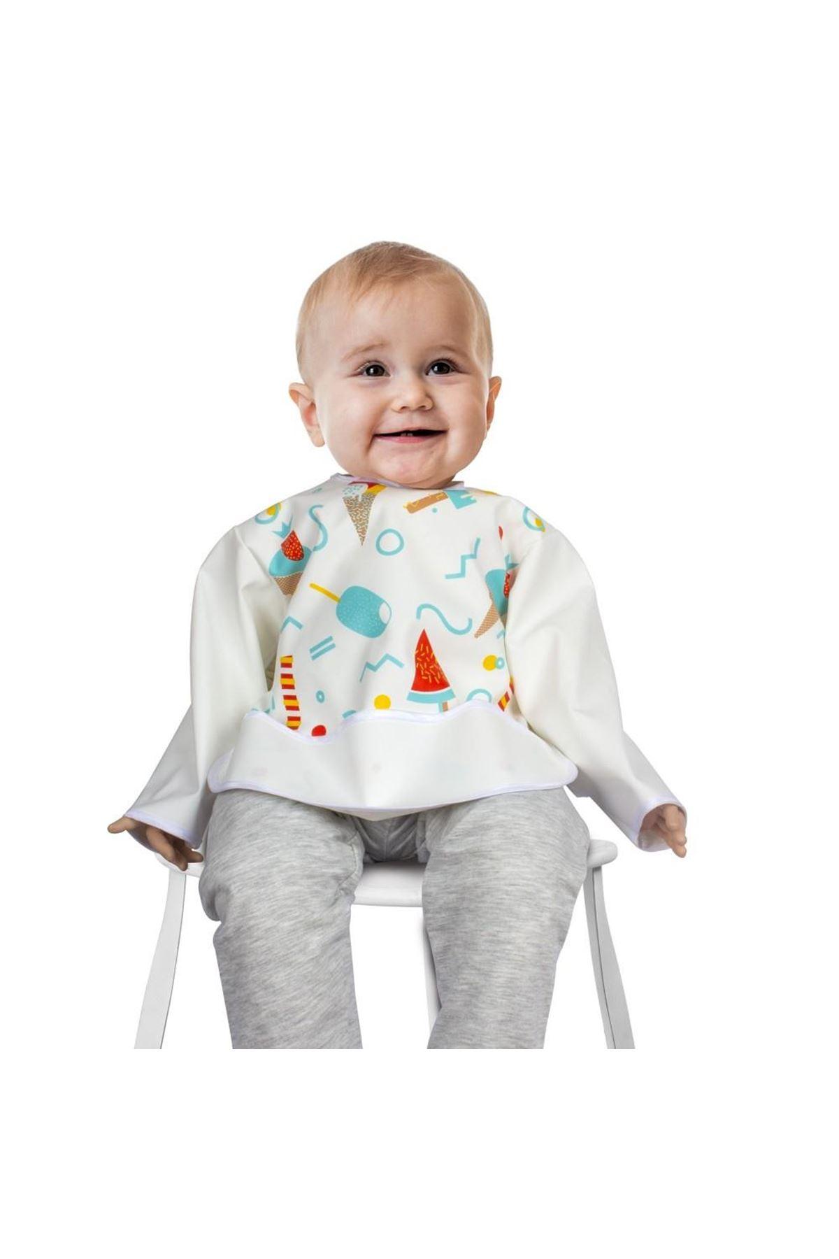 Sevi Bebe Kollu Mama Önlüğü ART-53 Dondurma