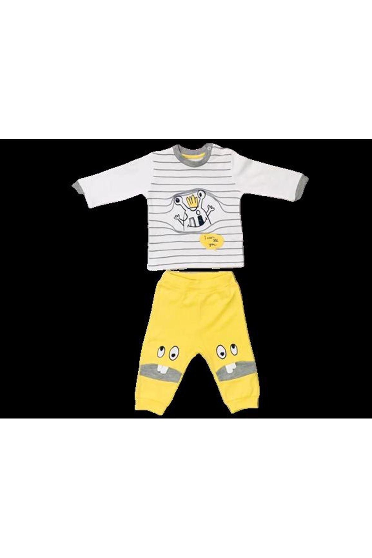 Mymio Baby Monsters 2li Bebe Takım 422 Sarı