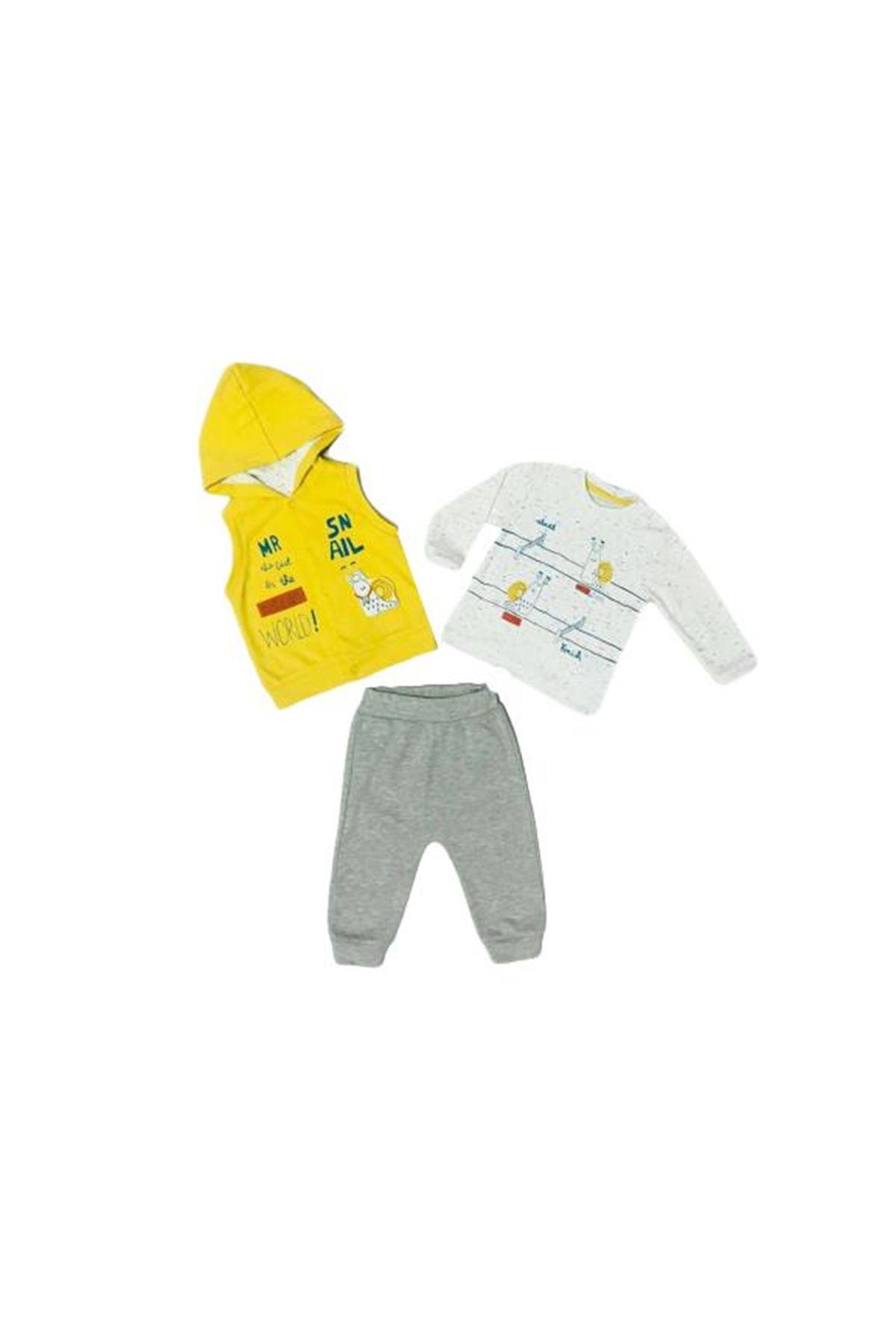 Mymio Baby Salyangoz Yelekli 3lü Bebe Takım 2781 Yeşil