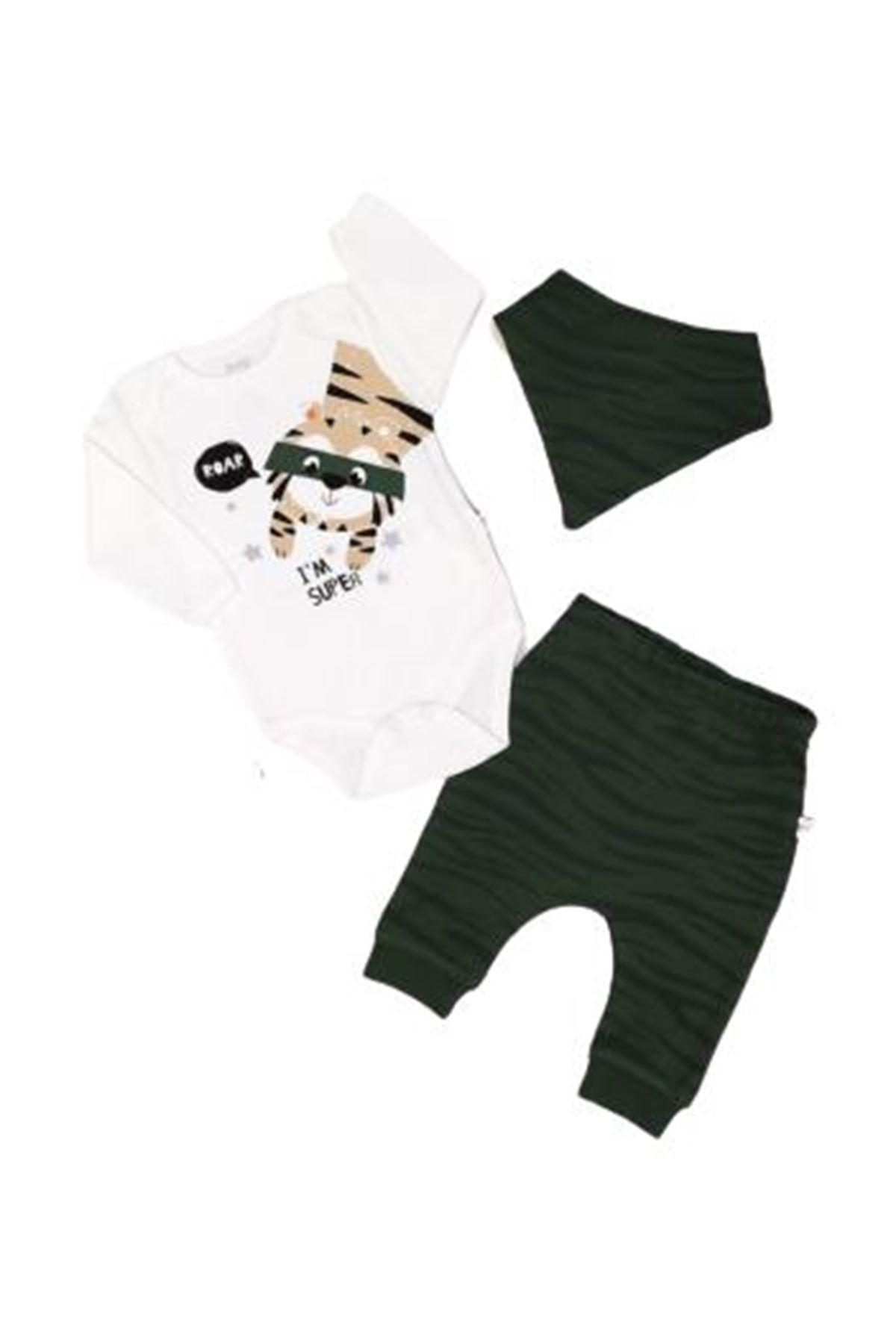 İmaj Time Baby Tiger Erkek 3lü Bebe Takım 3092 Haki