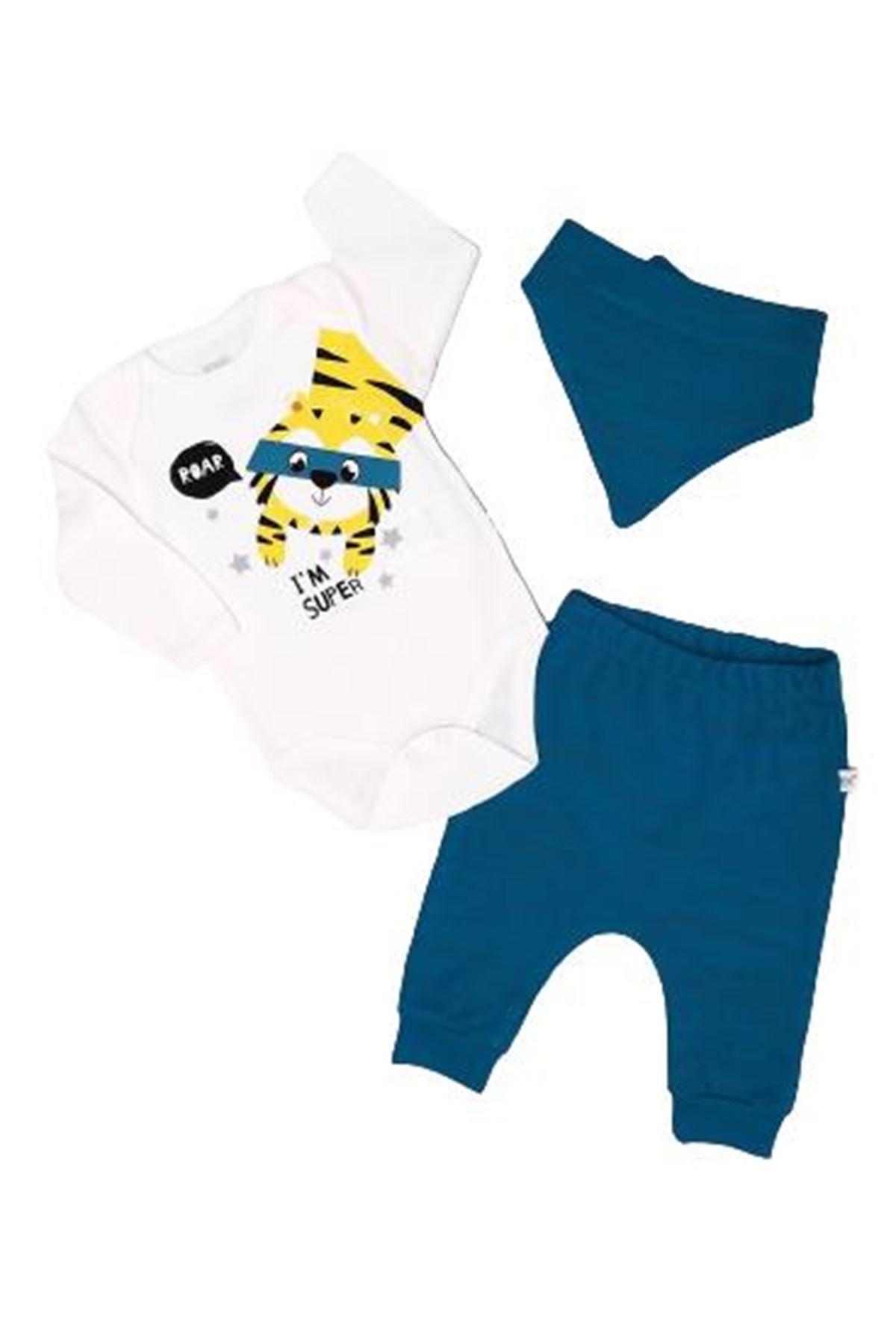İmaj Time Baby Tiger Erkek 3lü Bebe Takım 3092 Yeşil