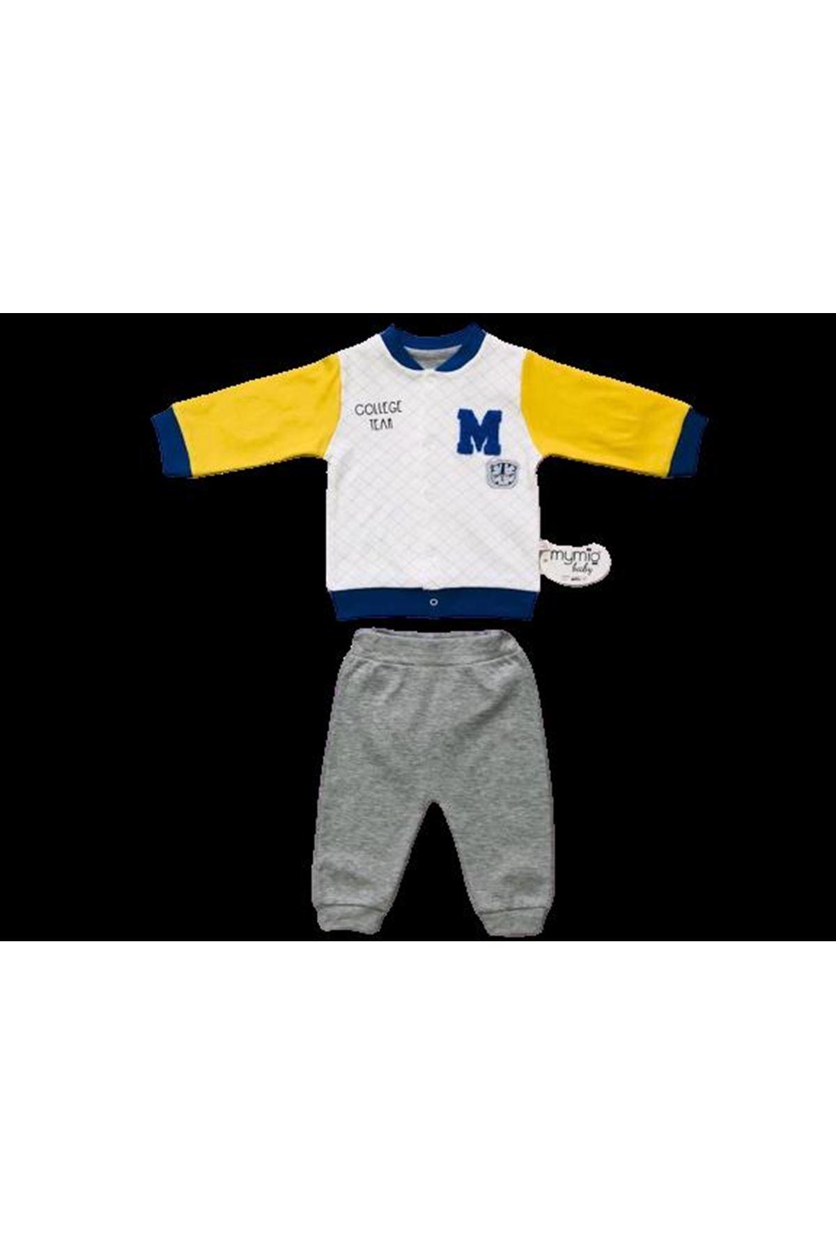 Mymio Baby College Hırkalı 2li Bebe Takım 6780 Sarı