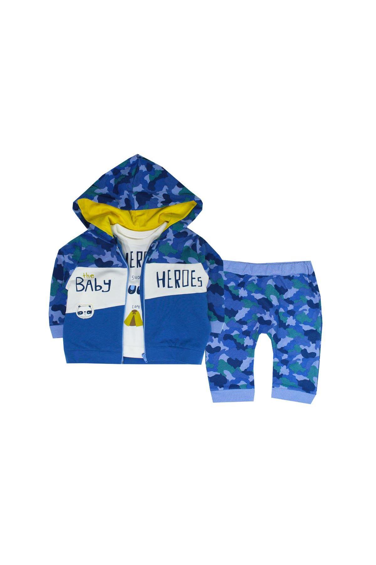 Tongs Baby 3 lü Bebe Takım 2684 Mavi