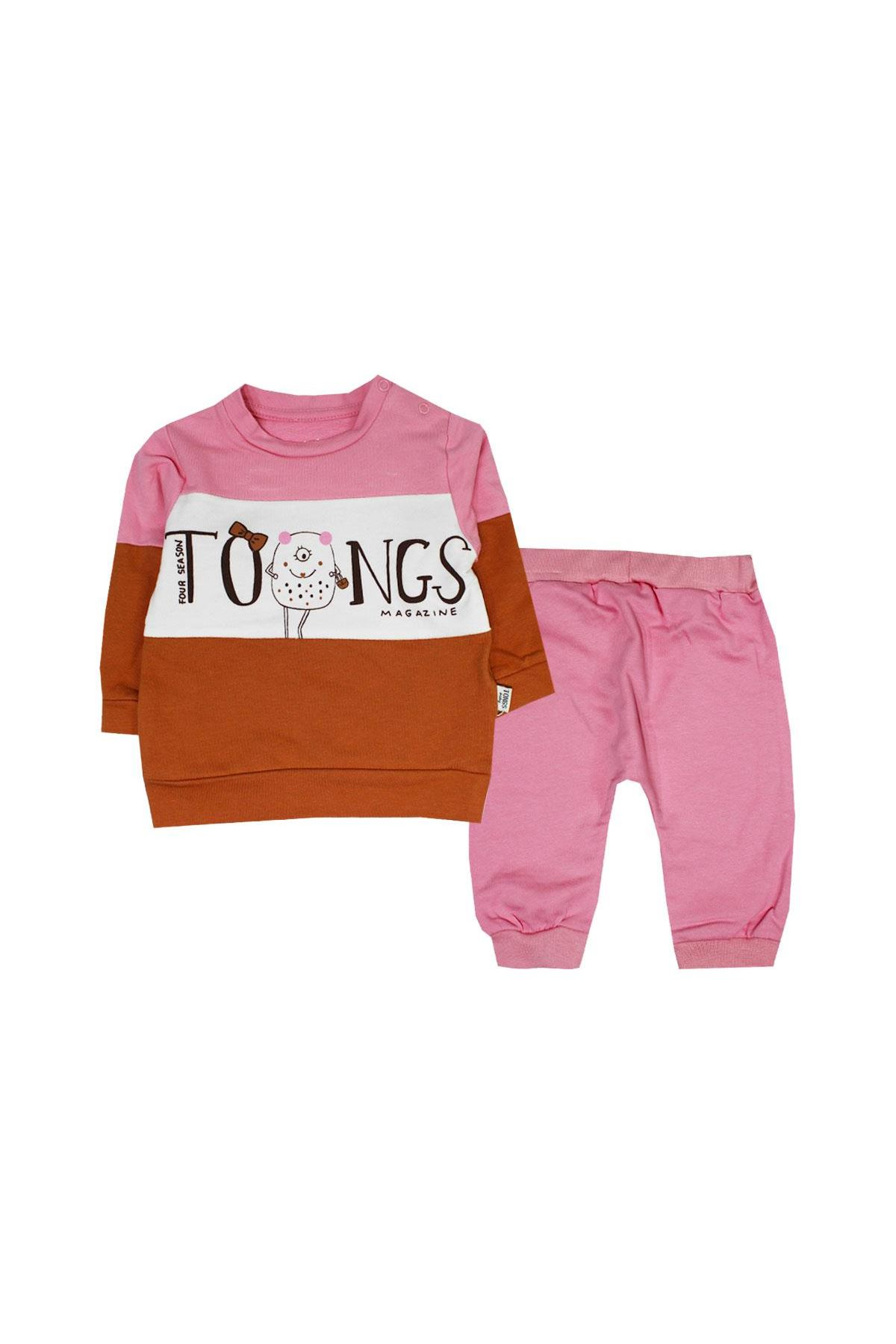 Tongs Baby 2li Bebe Takım 2638 Pembe