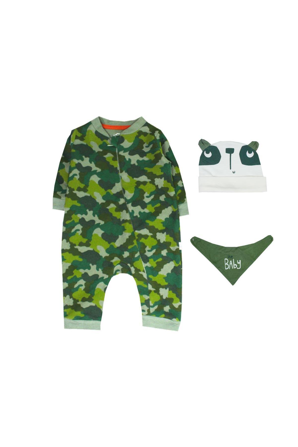 Tongs Baby Fermuarlı Bebe Tulum 2681 Yeşil
