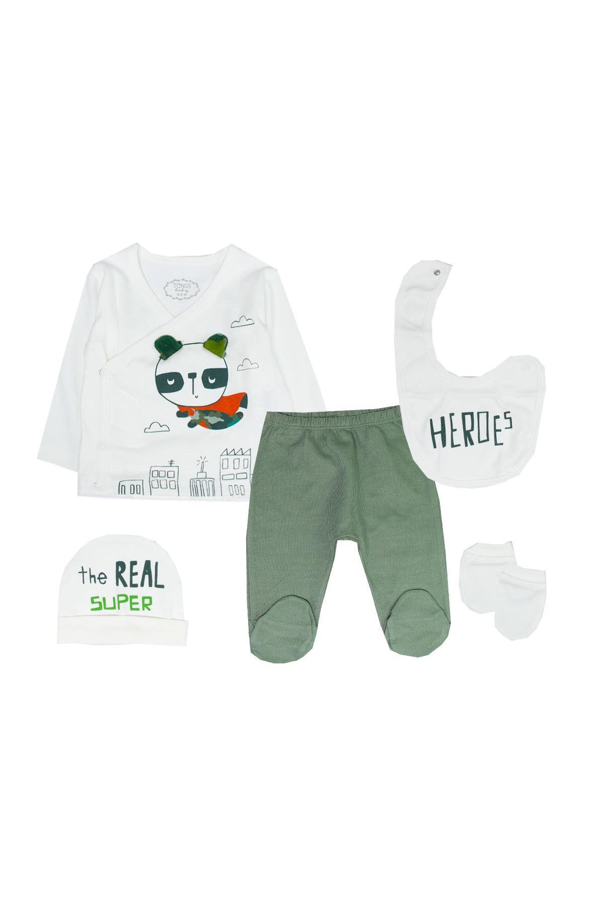 Tongs Baby Bebe Zıbın Takım 2685 Yeşil