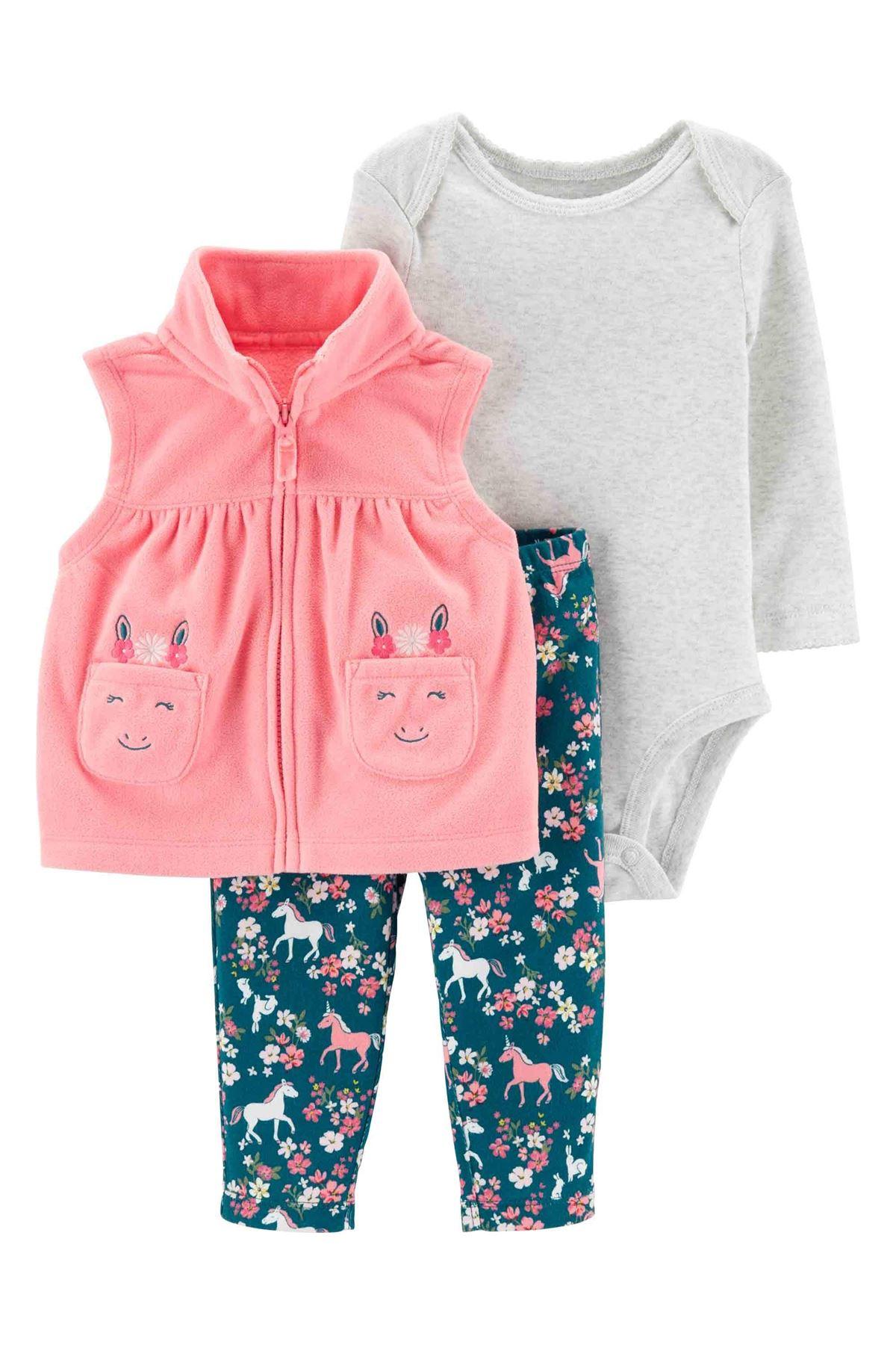 Carter's Kız Bebek 3'lü Set 18592210 Pink