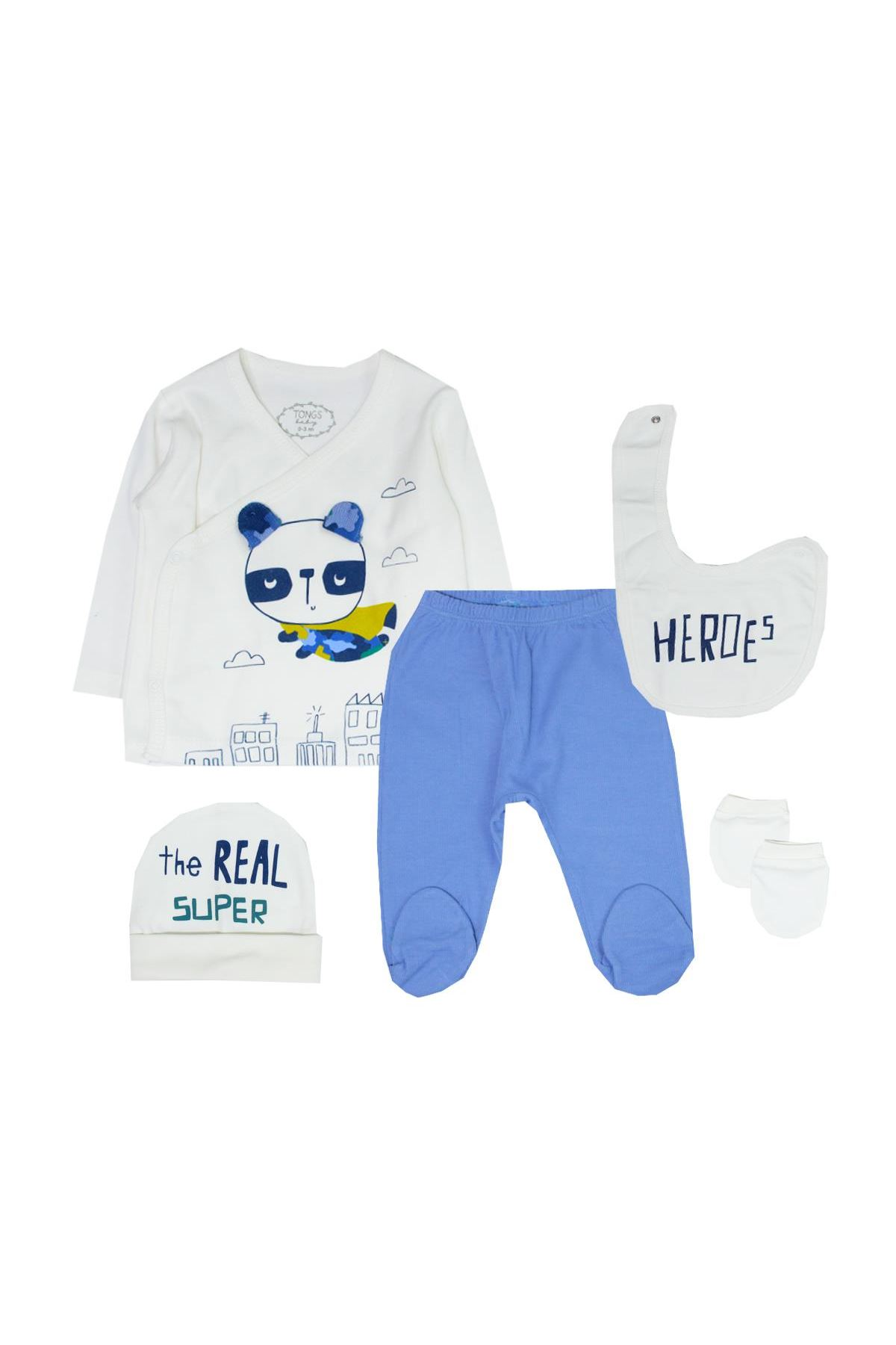 Tongs Baby Bebe Zıbın Takım 2685 Mavi
