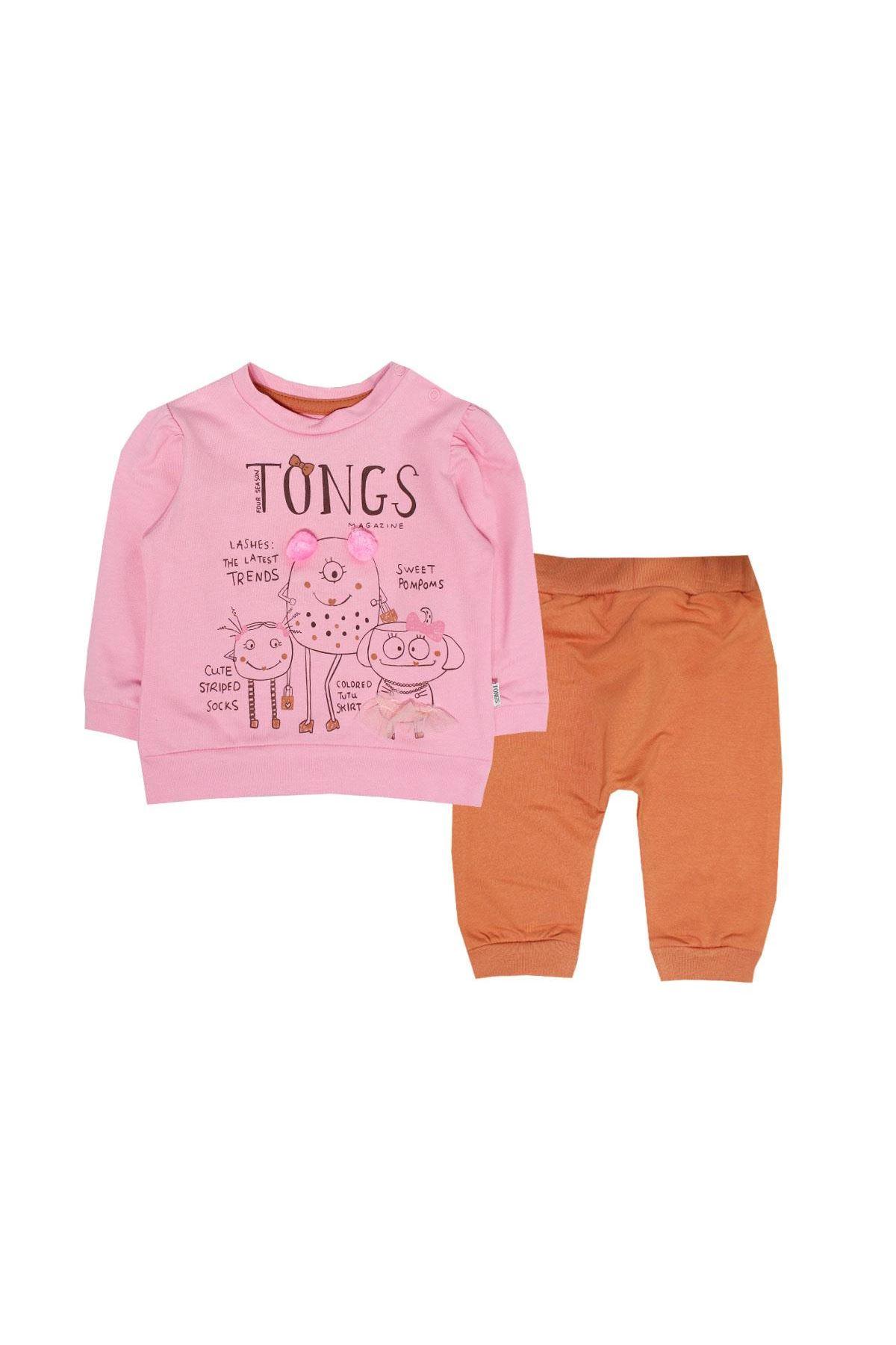 Tongs Baby 2li Bebe Takım 2633 Pembe