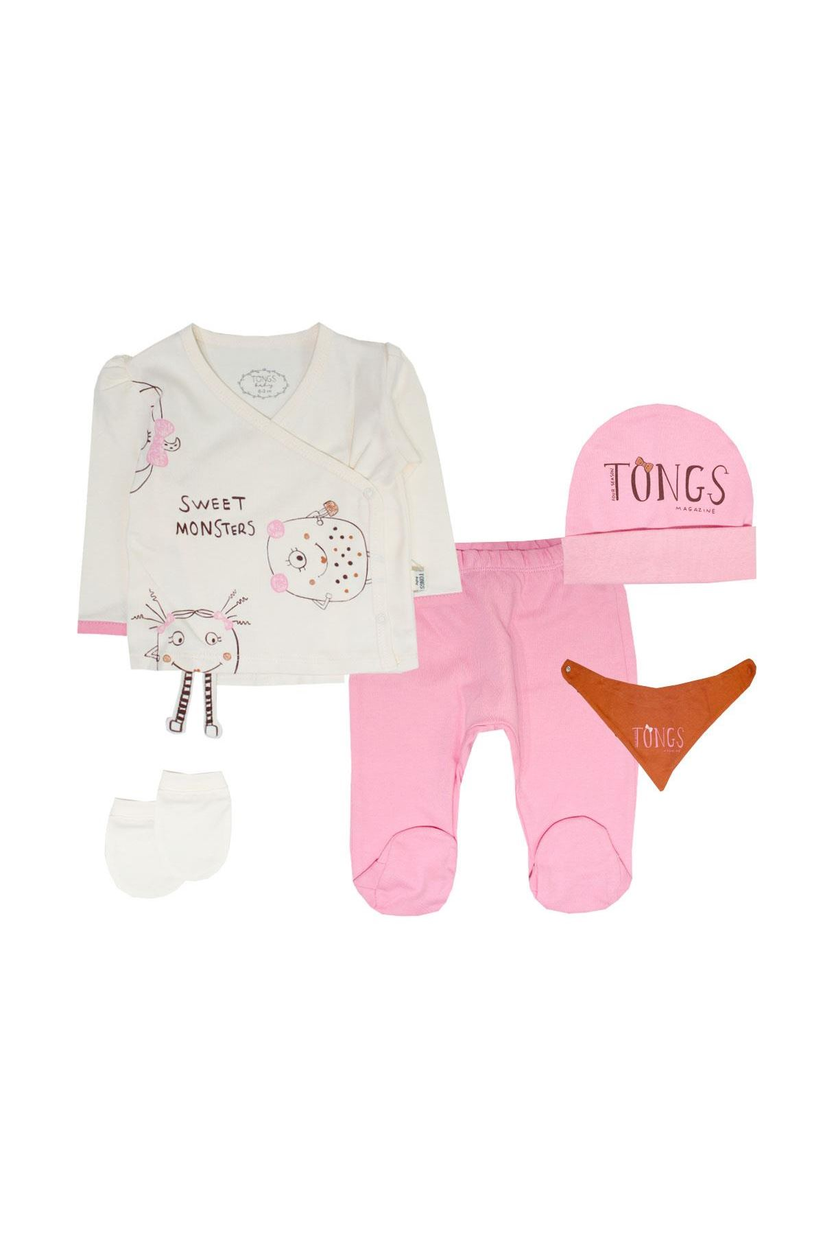 Tongs Baby Bebe Zıbın Takım 2635 Pembe