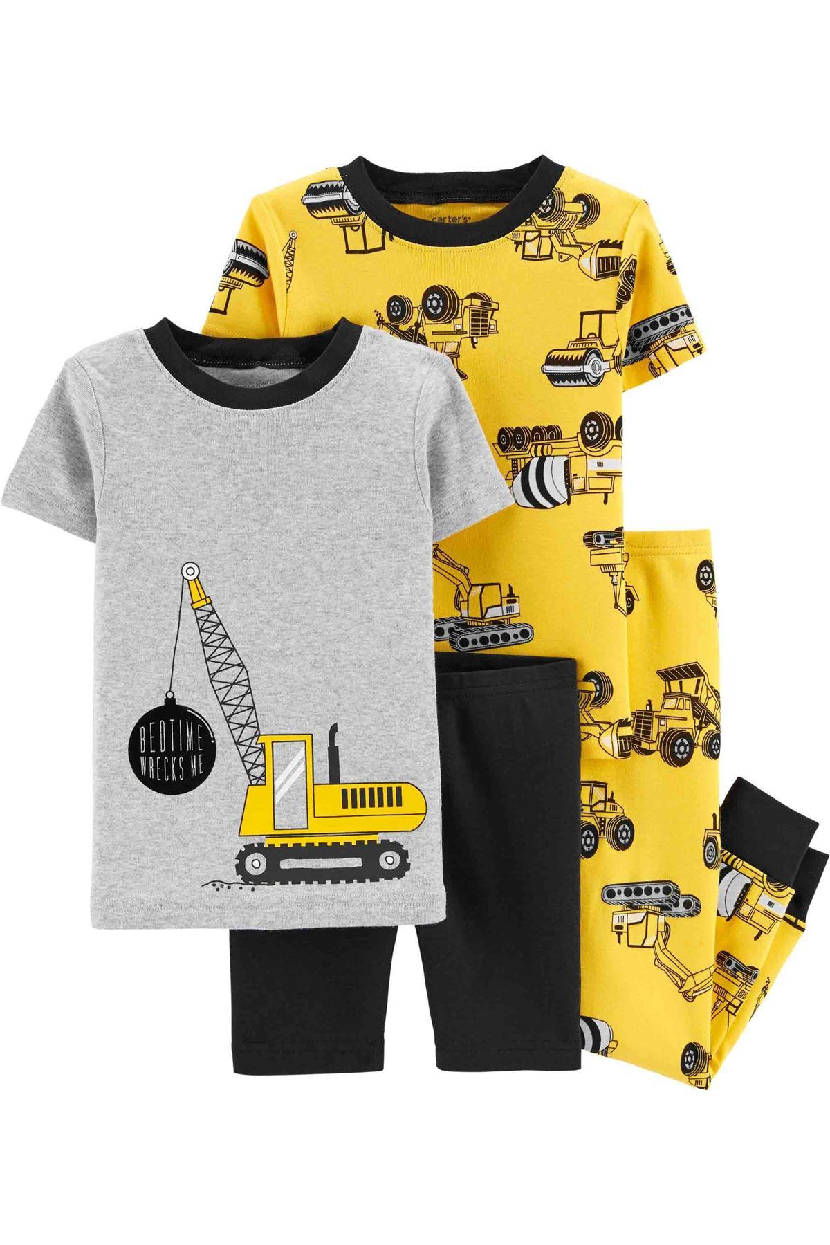 Carter's Erkek Bebek 4'lü Pijama Takım 1H450910 Print