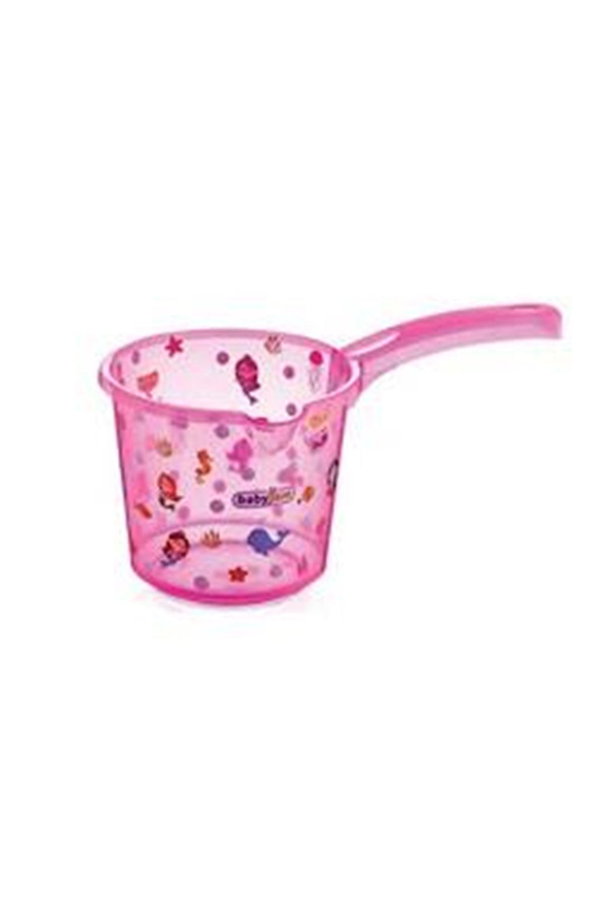 BabyJem Bebek Banyo Maşrapası Şeffaf Desenli 400 Pembe
