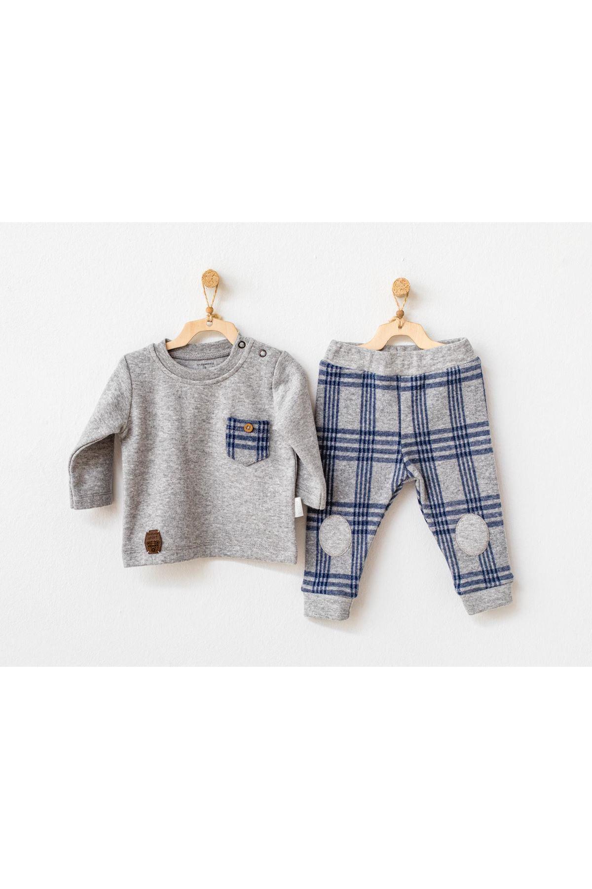 Andywawa AC21154 Awesome 2li Bebek Takım Grey Melange