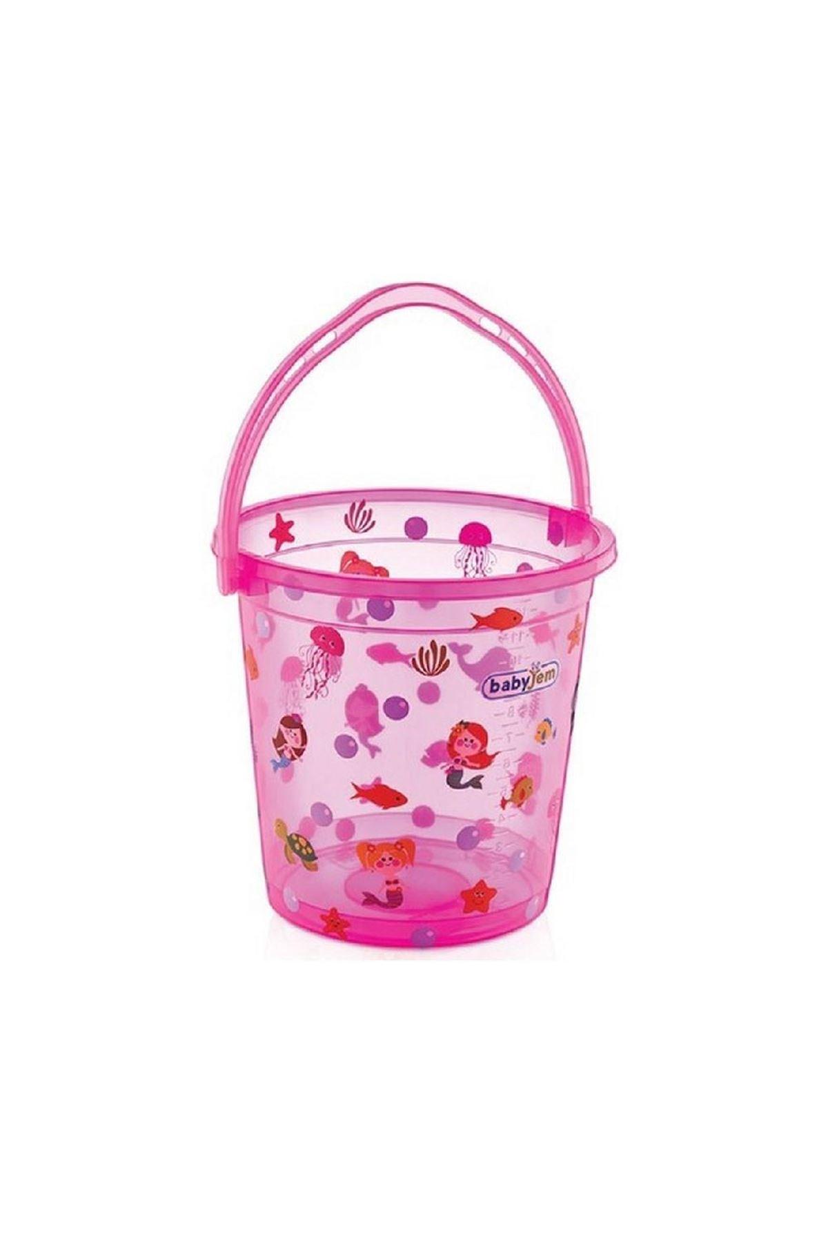 BabyJem Bebek Banyo Kovası Şeffaf Desenli 399 Pembe