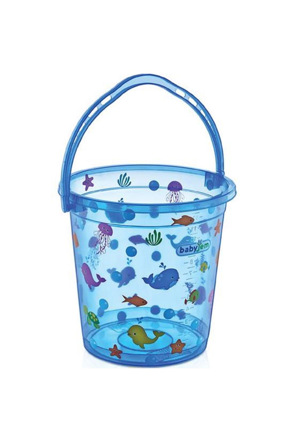 BabyJem Bebek Banyo Kovası Şeffaf Desenli 399 Mavi