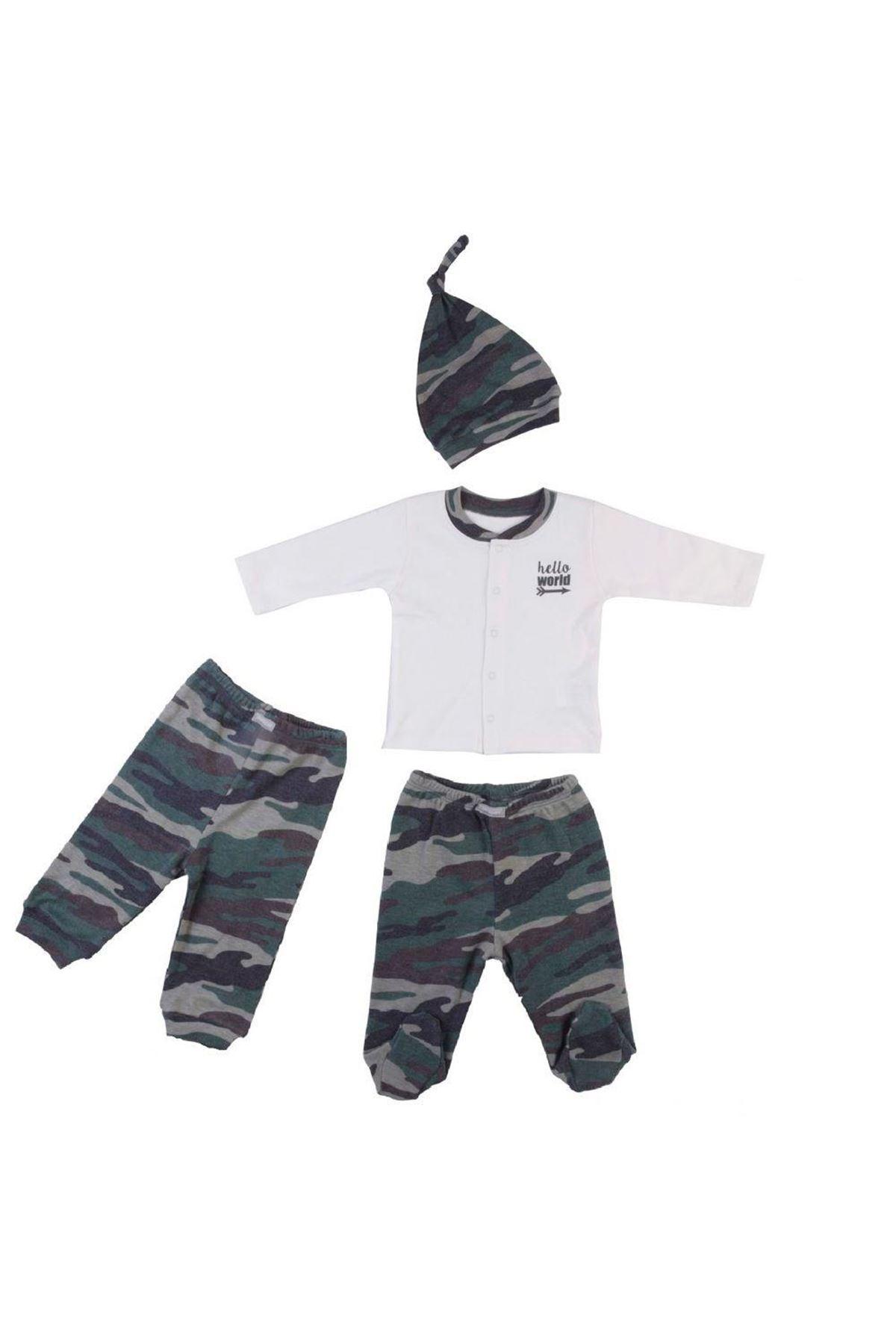 Bebepan Camo Bebek Pijama Takımı 1999 K.Beyaz