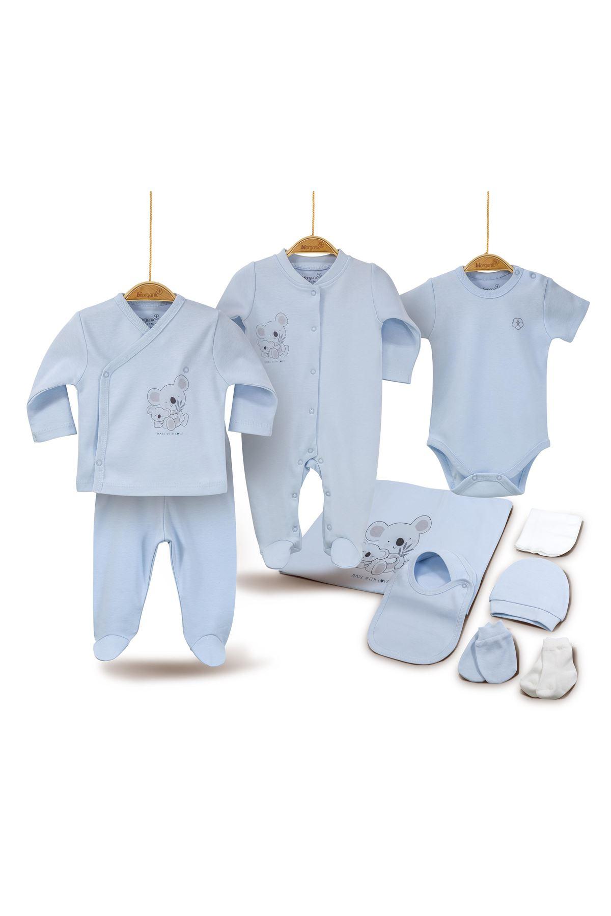 Bibaby Basic 10 Parça Zıbın Seti Hastane Çıkışı 63138 Mavi