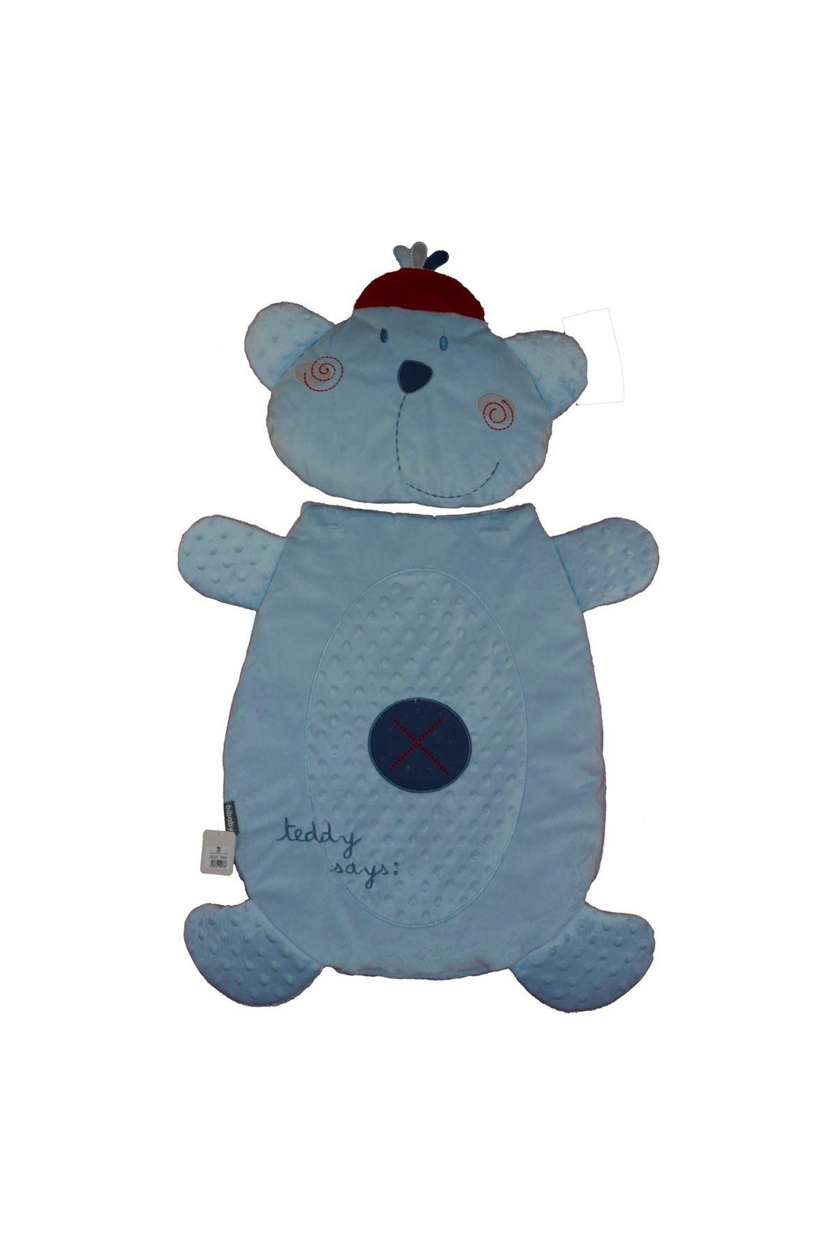 Bibaby Teddy Figürlü Alt Açma Minderi 65003 Mavi