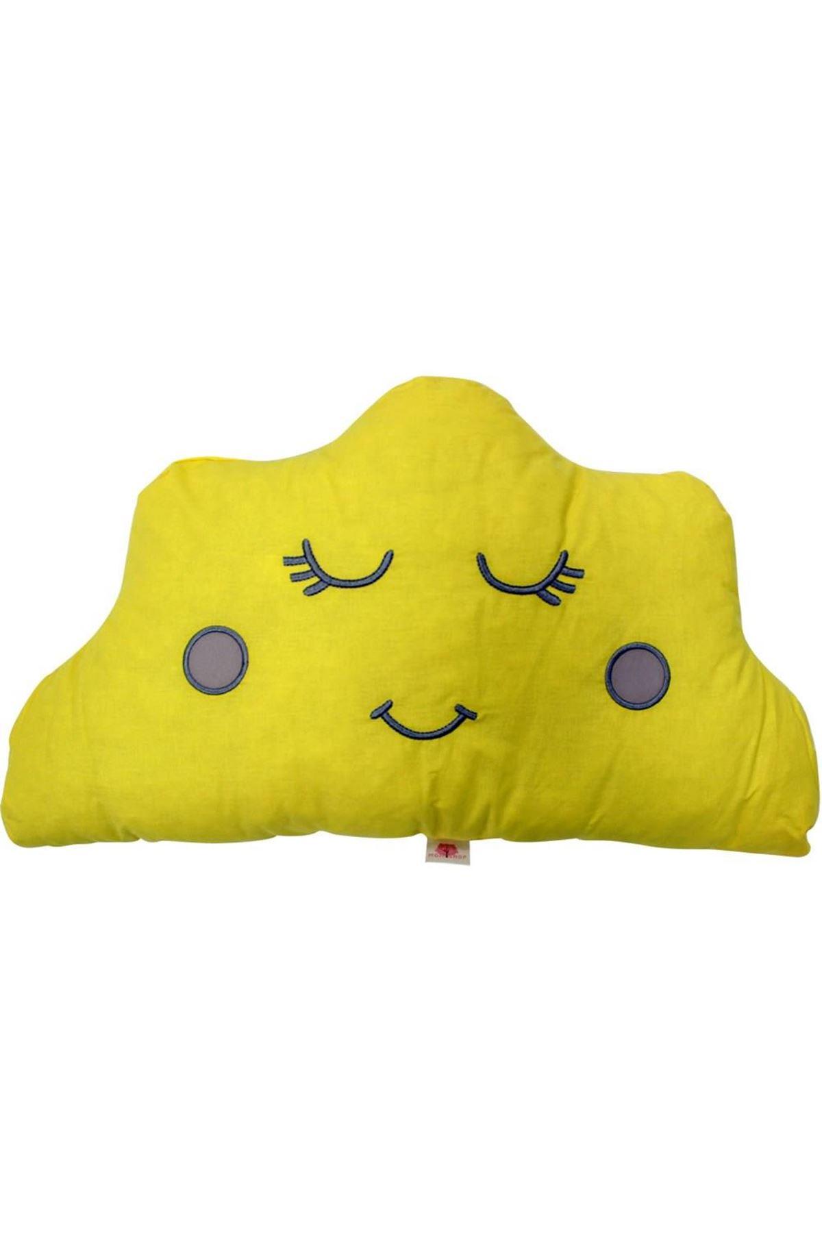 Momi Shop Bulut Süs Yastık Sarı