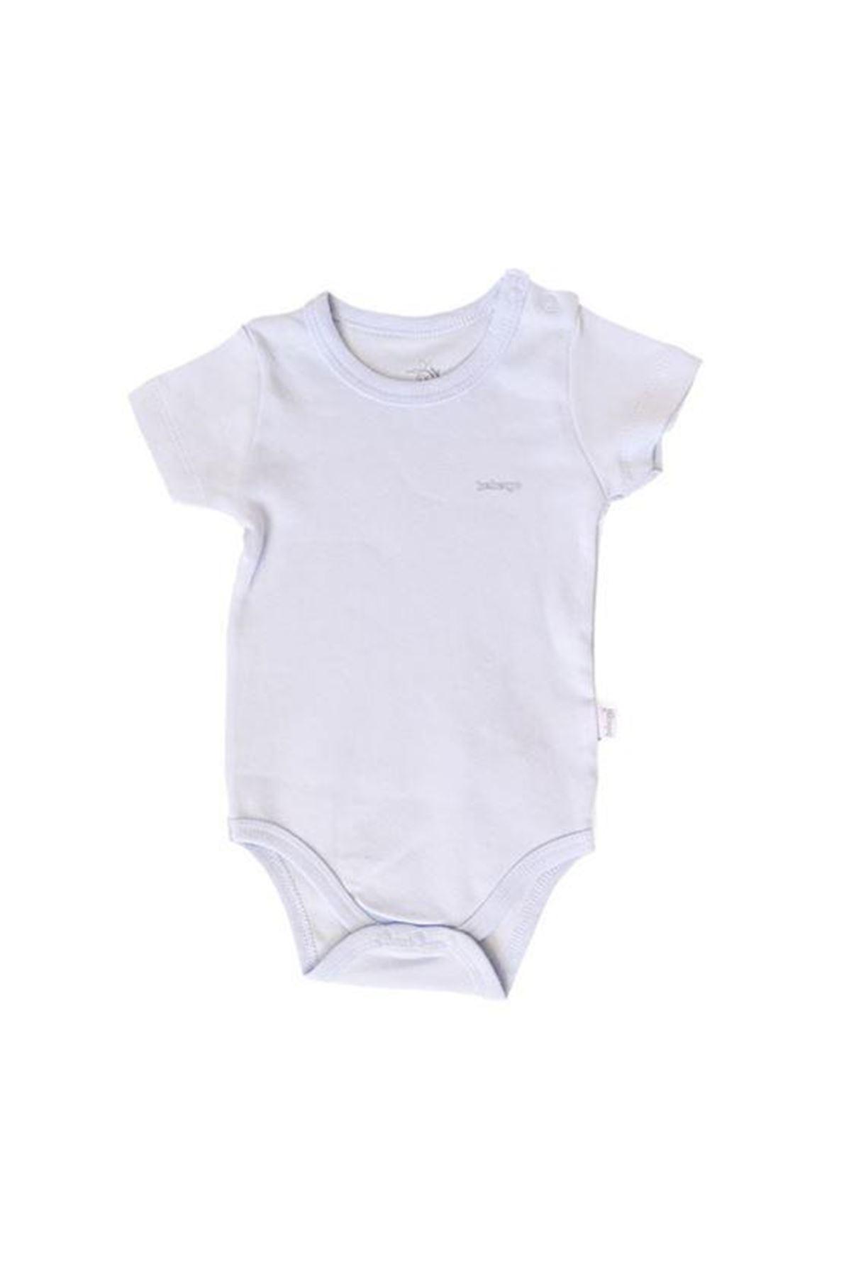 Bebengo Basıc Kısa Kol Bebe Body 4021 Beyaz