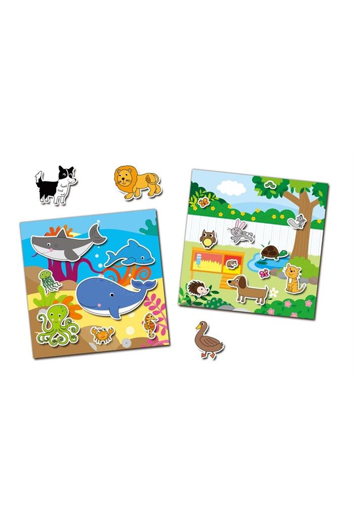 Galt Reusable Sticker Book Animals 3 Yaş+