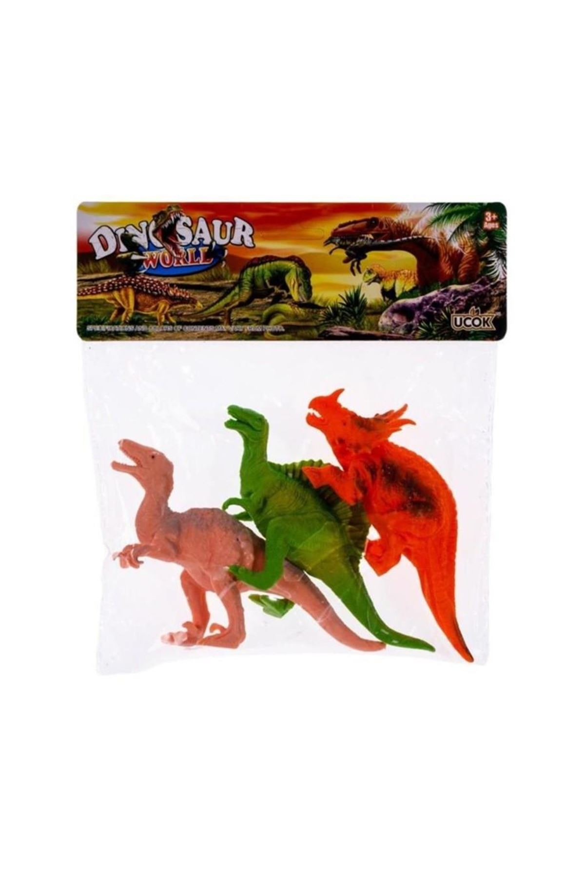 Can-Em Oyuncak 3lü Dinazor Hayvanlar