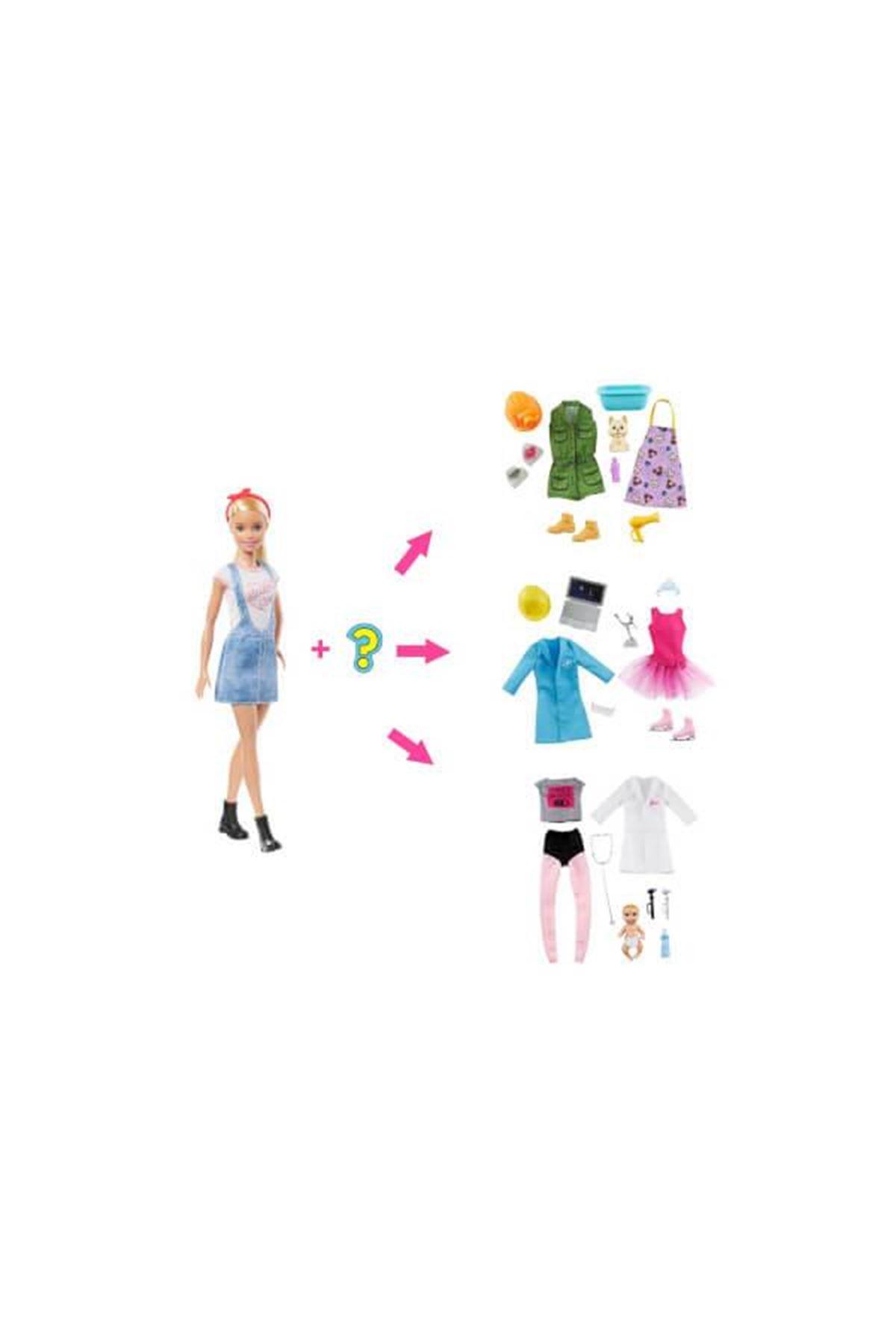 Barbie Sürpriz Meslek Bebeği GLH62
