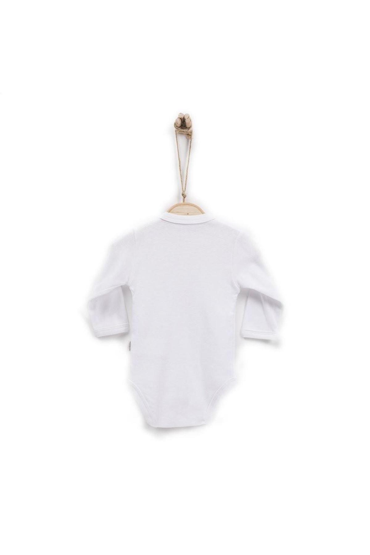 KitiKate Organik Uzun Kol Bebe Body 76582 Beyaz