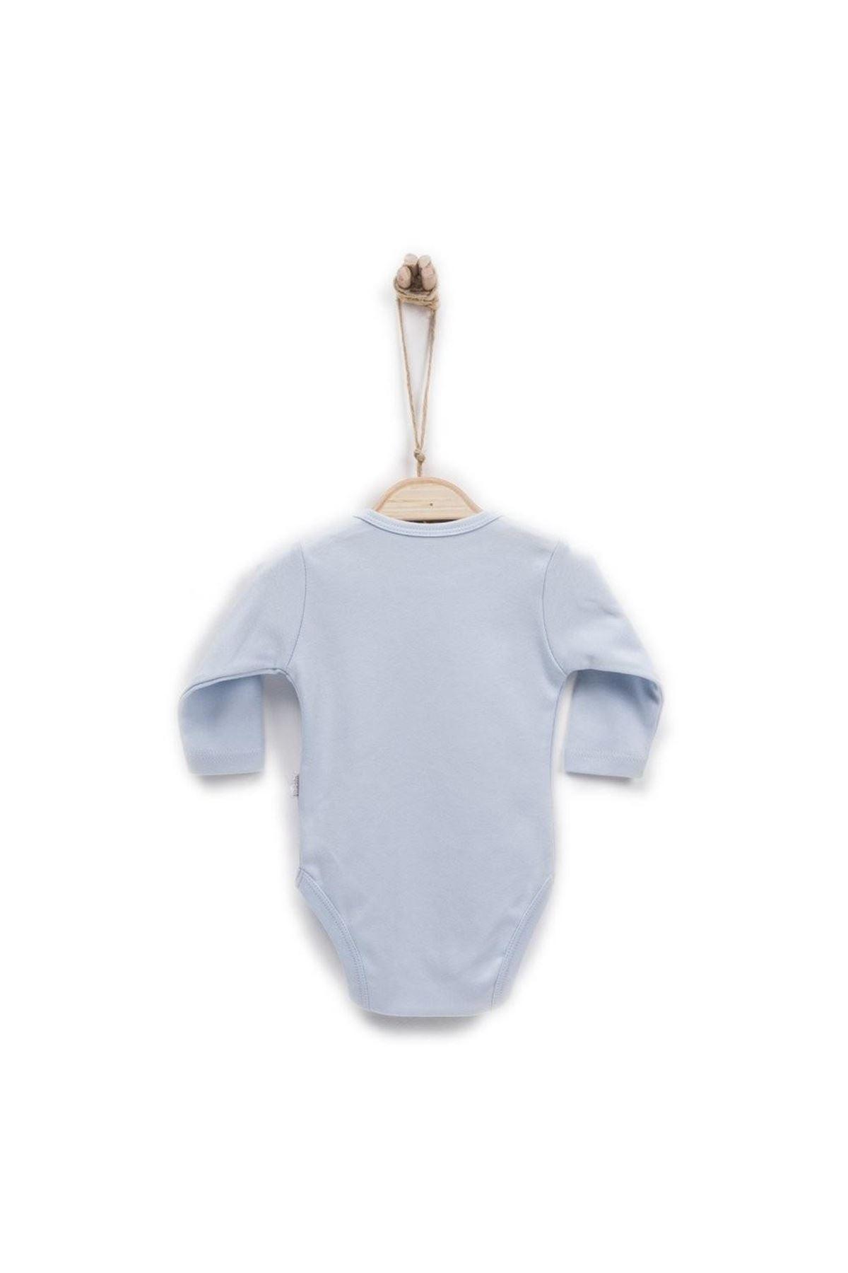 KitiKate Organik Uzun Kol Bebe Body 76582 Mavi