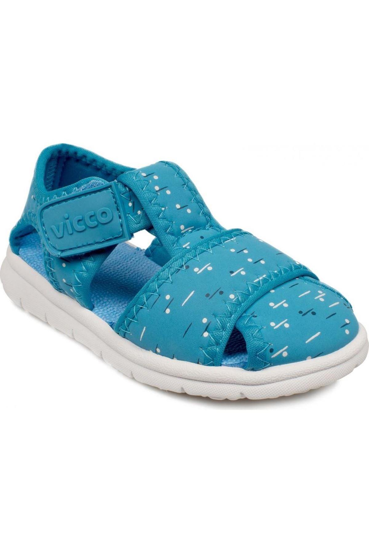 Vicco İlk Adım Deri Ayakkabı 332.E20Y.306 Mavi