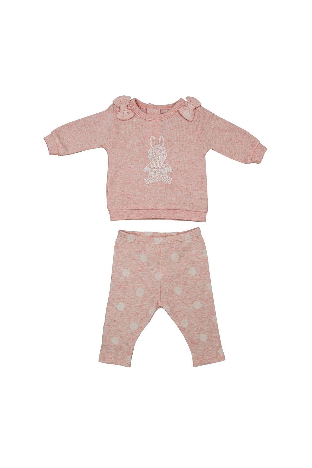 Andywawa AC21143 Polka Dot 2li Bebek Takım Pink