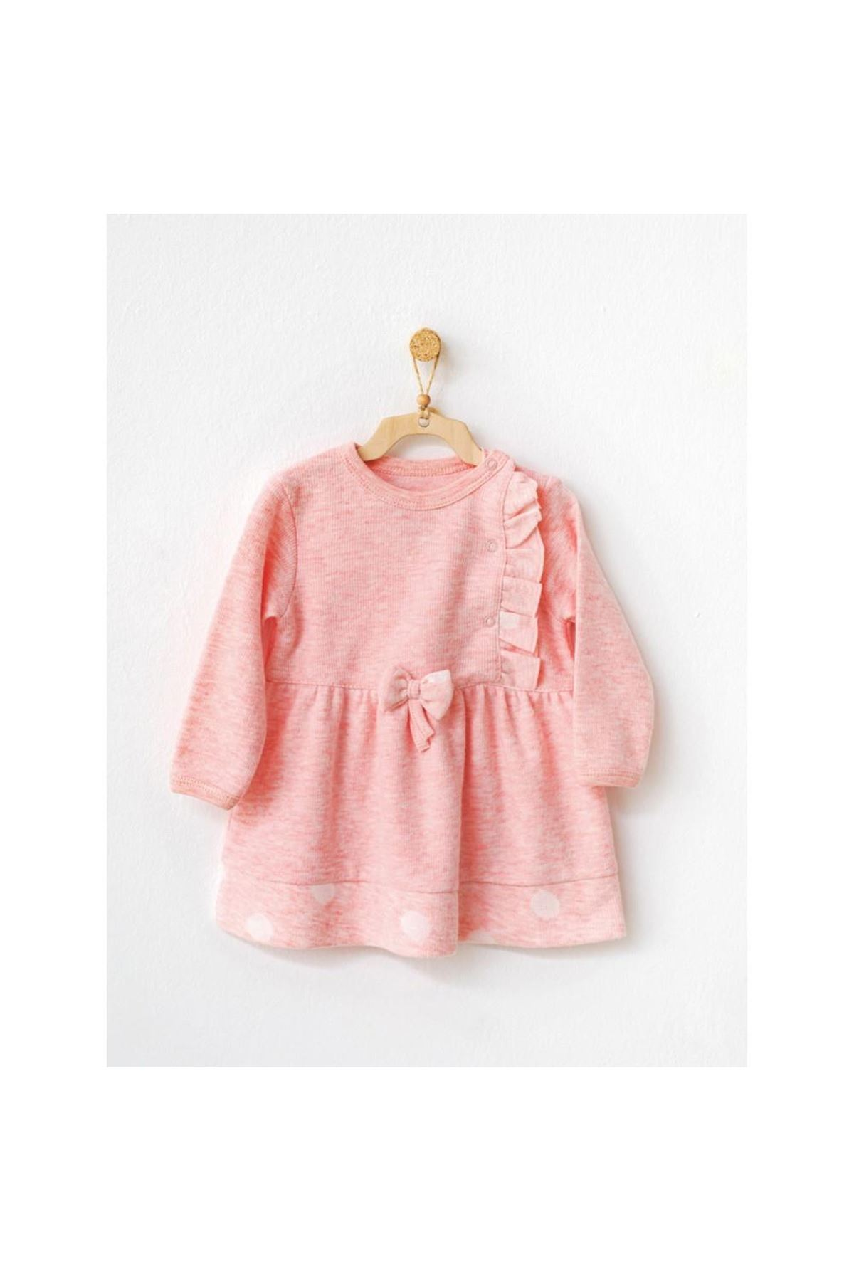 Andywawa AC21138 Polka Dot Bebek Elbise Pink