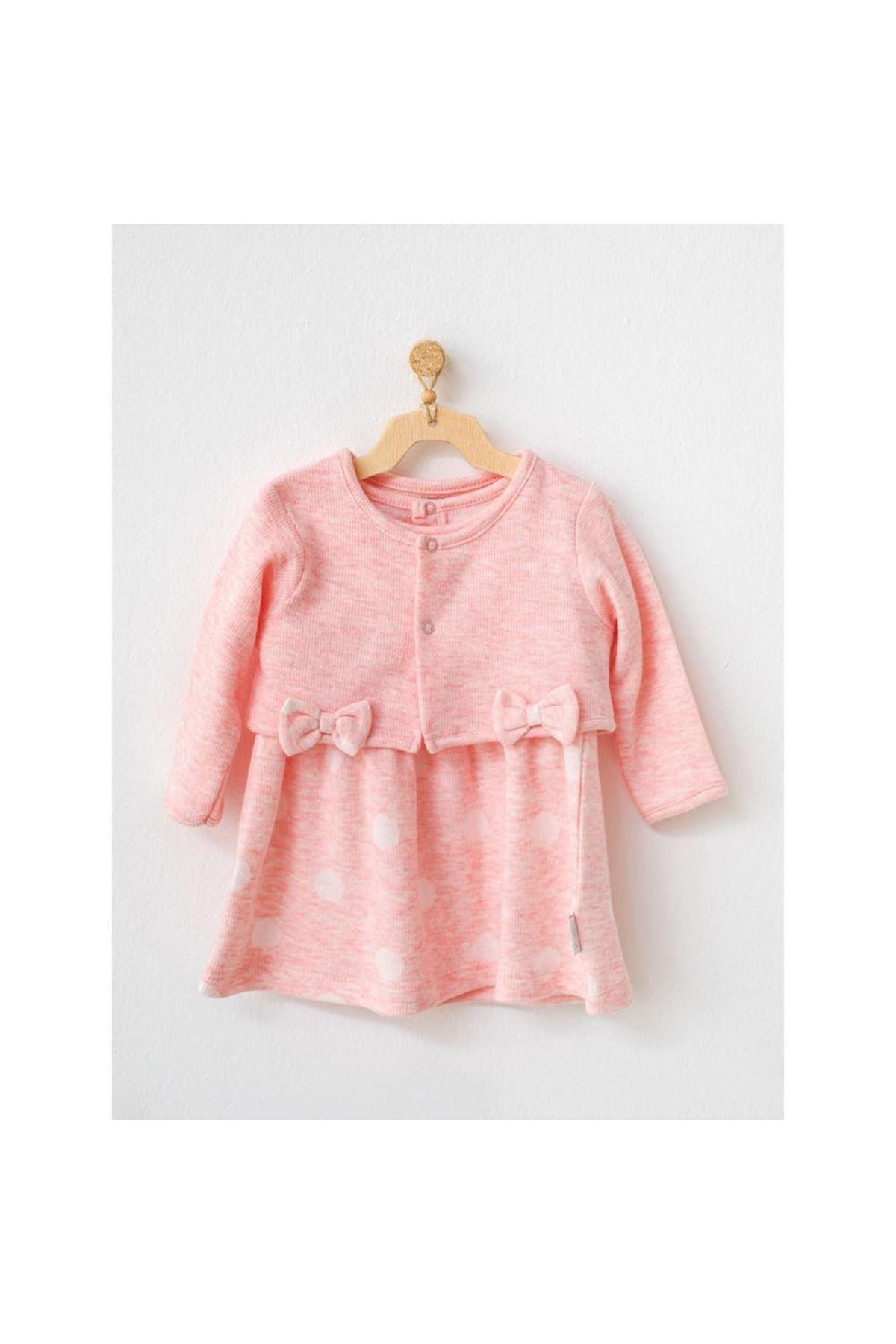Andywawa AC21136 Polka Dot Bolero Elbise Set Pink