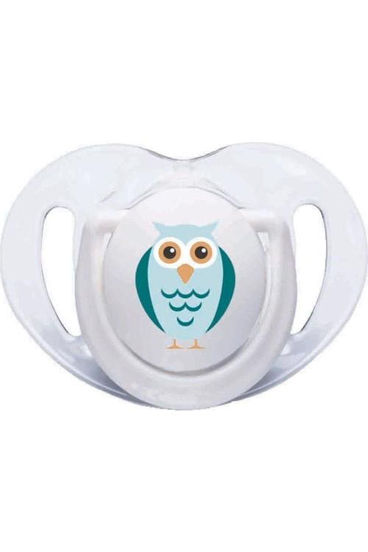 Mamajoo Silikon Emzik 2li 6+ Ay Beyaz Baykuş