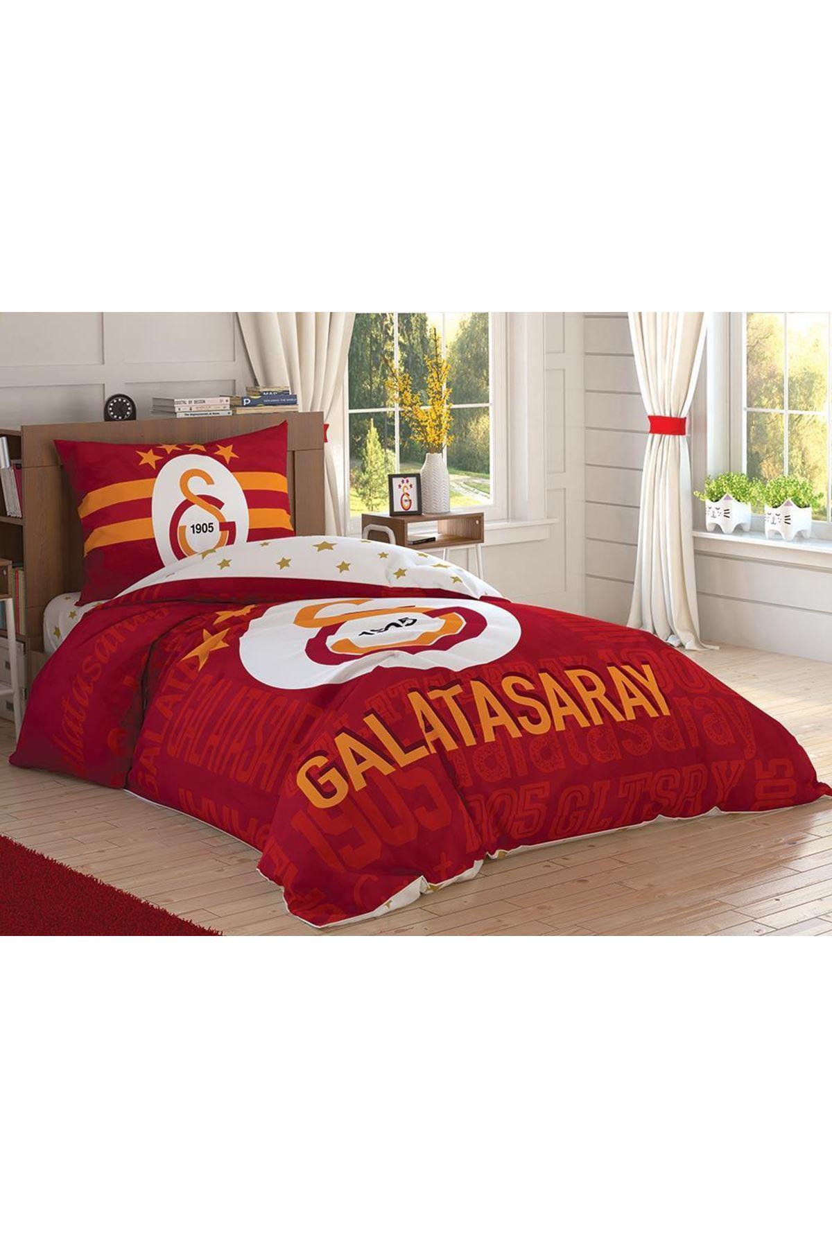 Taç Lisanslı Nevresim Takımı Tek Kişilik Galatasaray Sportif