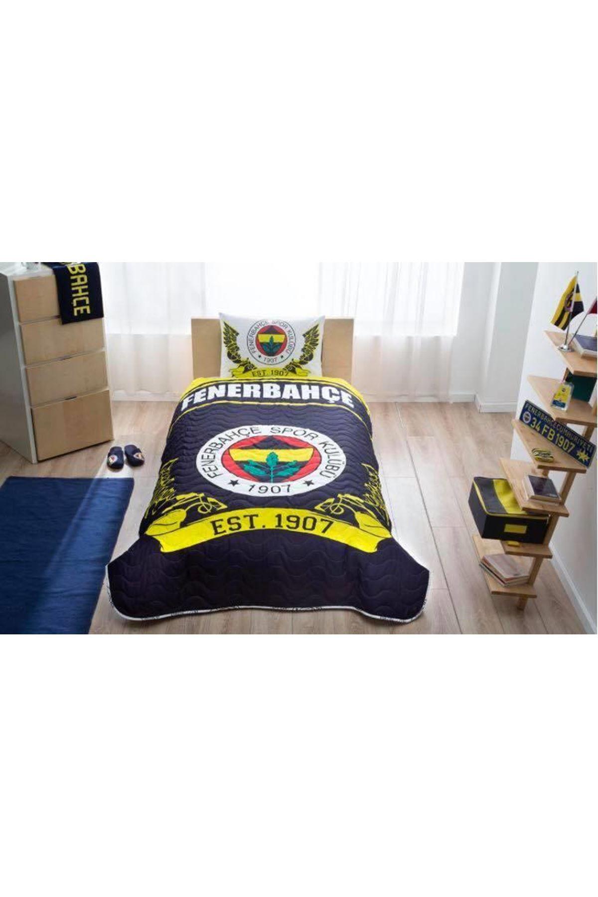 Taç Lisanslı CPP Yatak Örtüsü Seti Fenerbahçe Logo