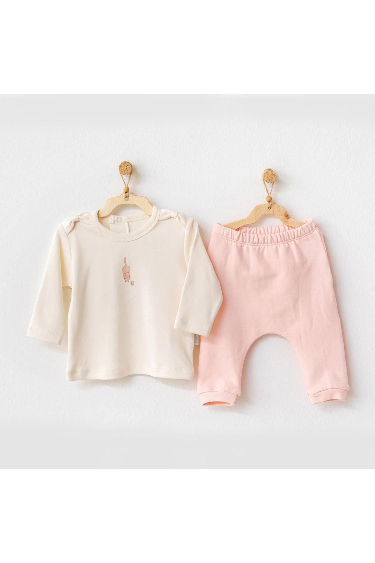 Andywawa AC21112 Meow 2li Bebek Takım Pink