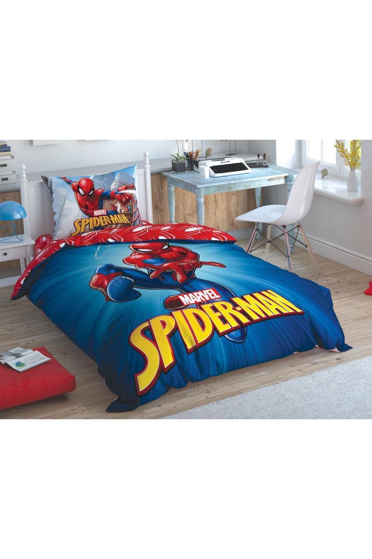 Taç Lisanslı Nevresim Takımı Tek Kişilik Spiderman Time To Move