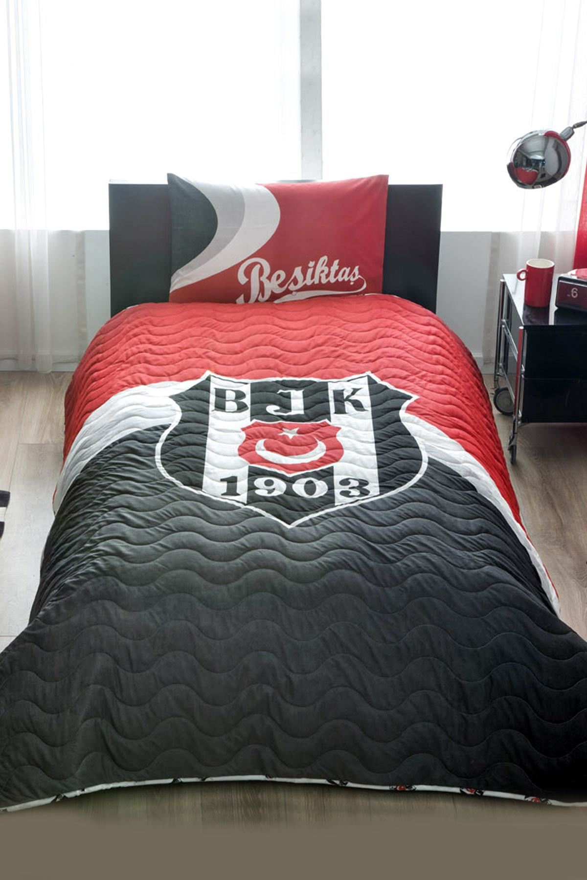 Taç Lisanslı CPP Yatak Örtüsü Seti Beşiktaş Logo