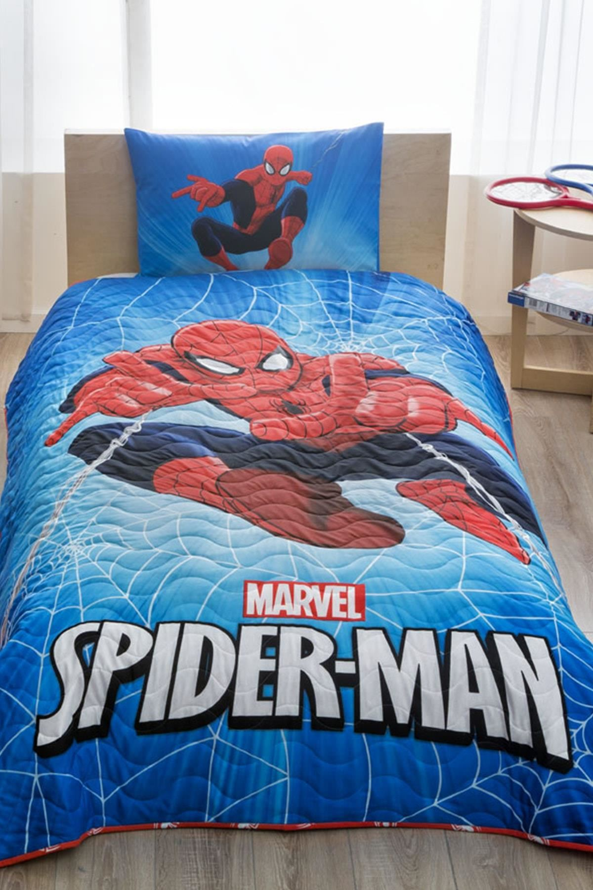 Taç Lisanslı CPP Yatak Örtüsü Seti Spiderman Skysca