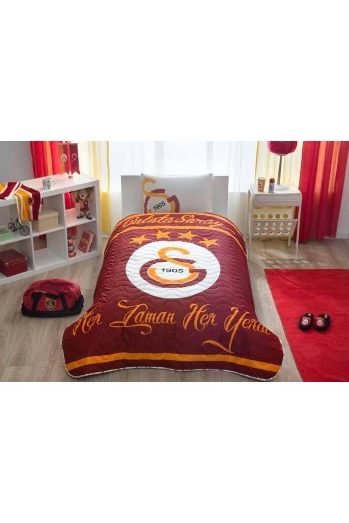 Taç Lisanslı CPP Yatak Örtüsü Seti Galatasaray Logo