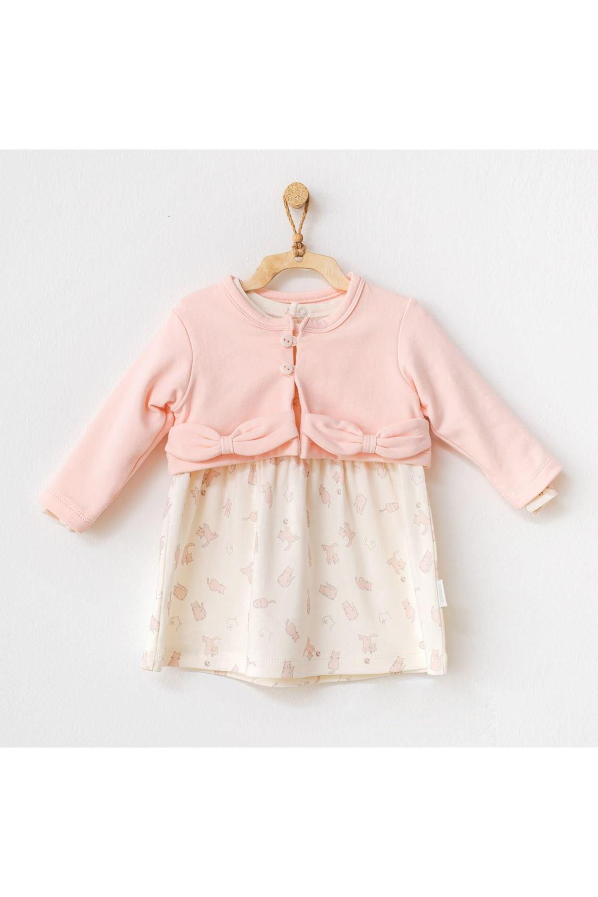 Andywawa AC21121 Meow Elbise Takım Pink