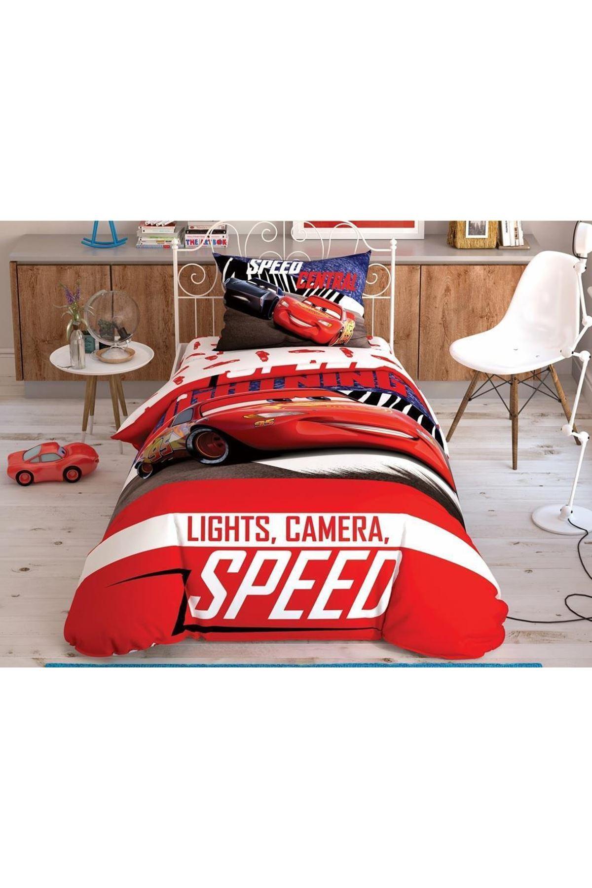 Taç Lisanslı Nevresim Takımı Tek Kişilik Disney Cars Spectator