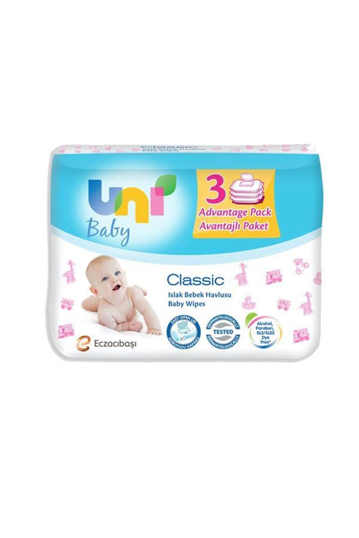 Uni Baby Classic Islak Havlu Mendil 3lü 56x3 168 Adet